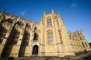 Exterior ornate facade of Windsor Castle