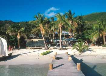 Foxy's Bar, a beach bar and home of the annual Old Year's party, Jost Van Dyke, BVI