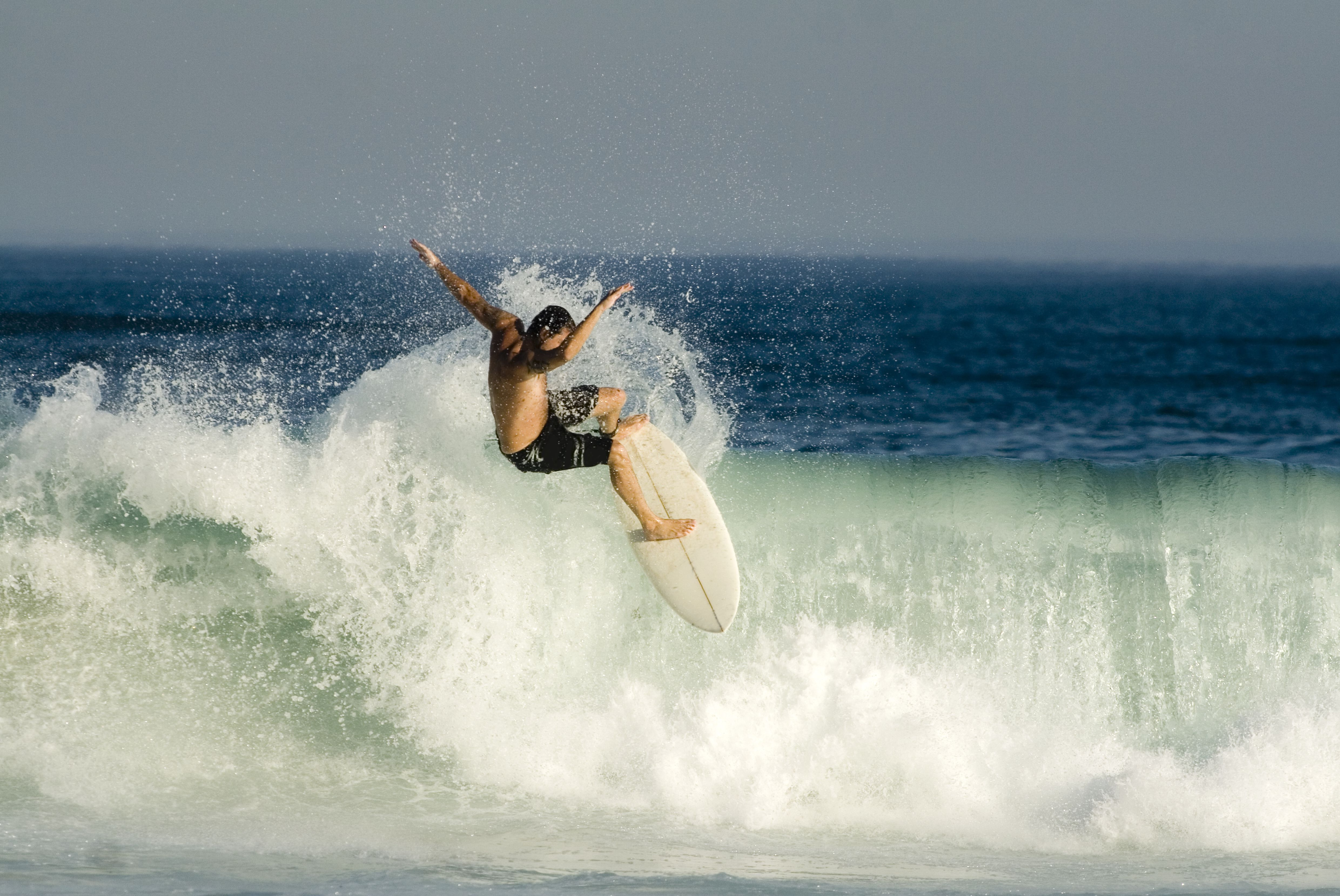 Surfer performing a stunt