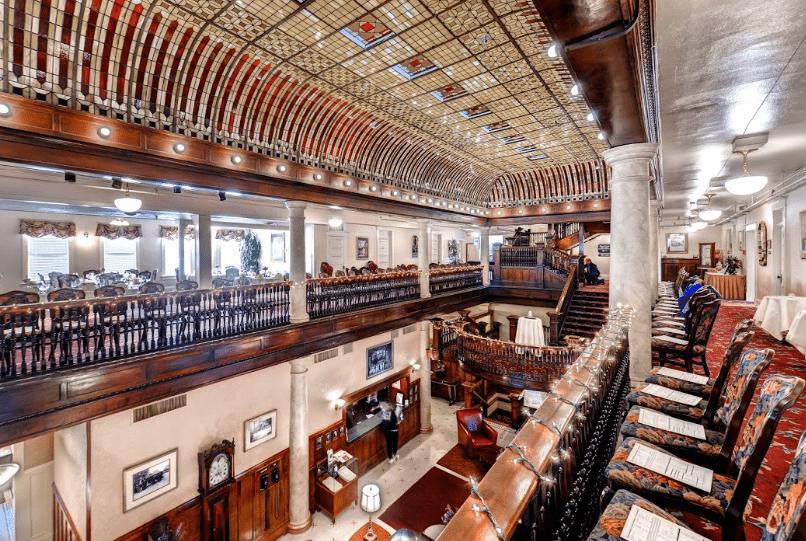 The dramatic interior of the Boulderado
