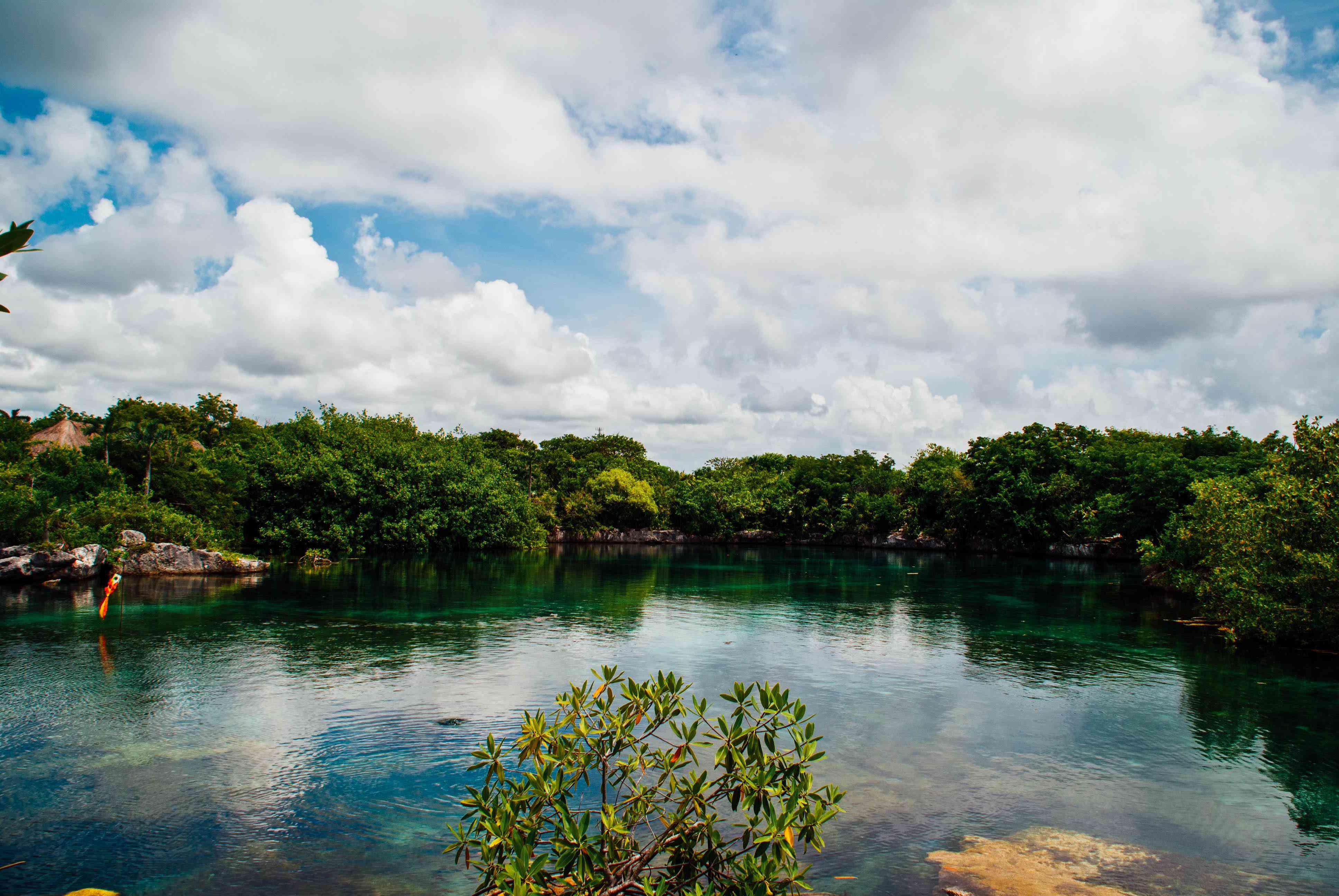 Lagoon in Xel-Ha, Mexico