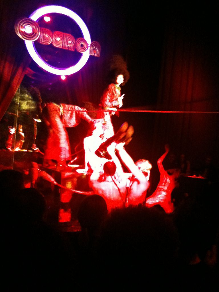 This photo shows the Donkey Show at the Oberon in Cambridge