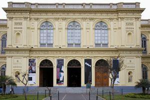Peru, Lima, Museo de Arte, facade