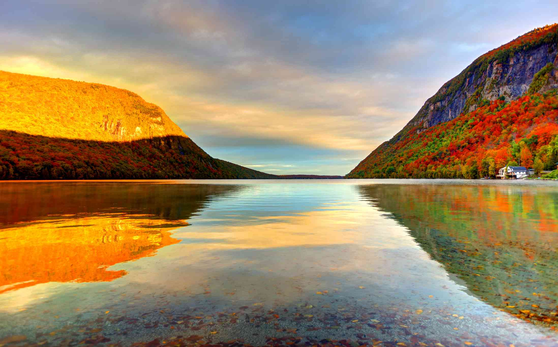 Lake Willoughby in Vermont