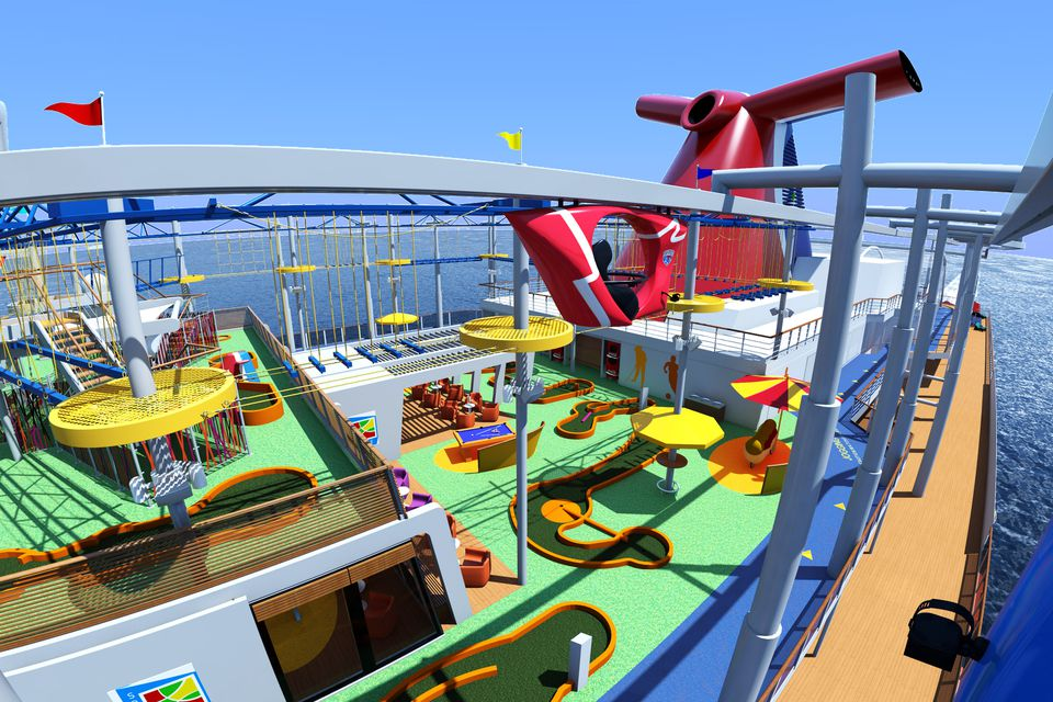 Artist rendering of Carnival Vista's SkyRide