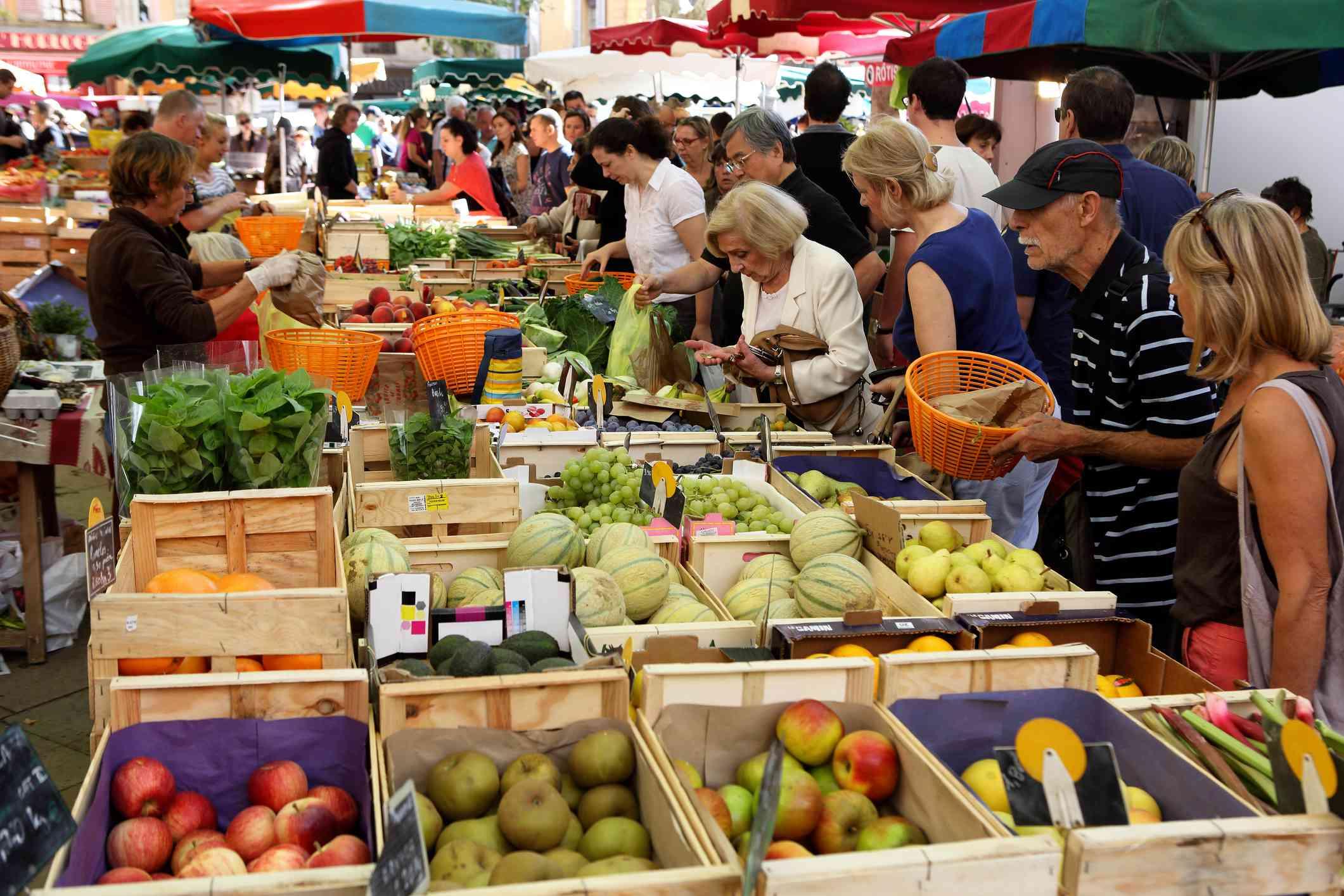 Saturday market, Place Richelme, Aix-en-Provence