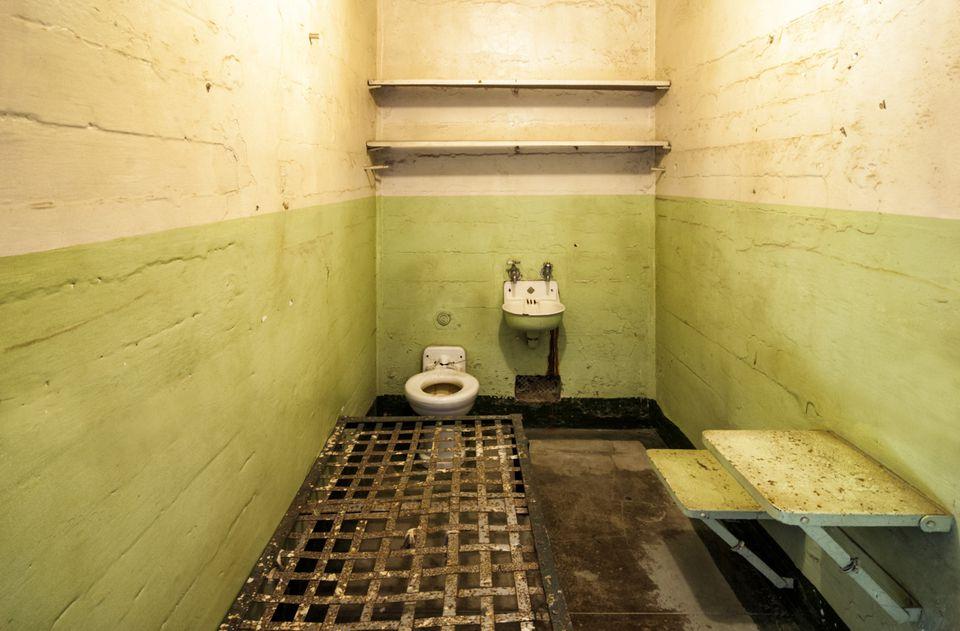 USA, California, San Francisco, Alcatraz, Prison Cell