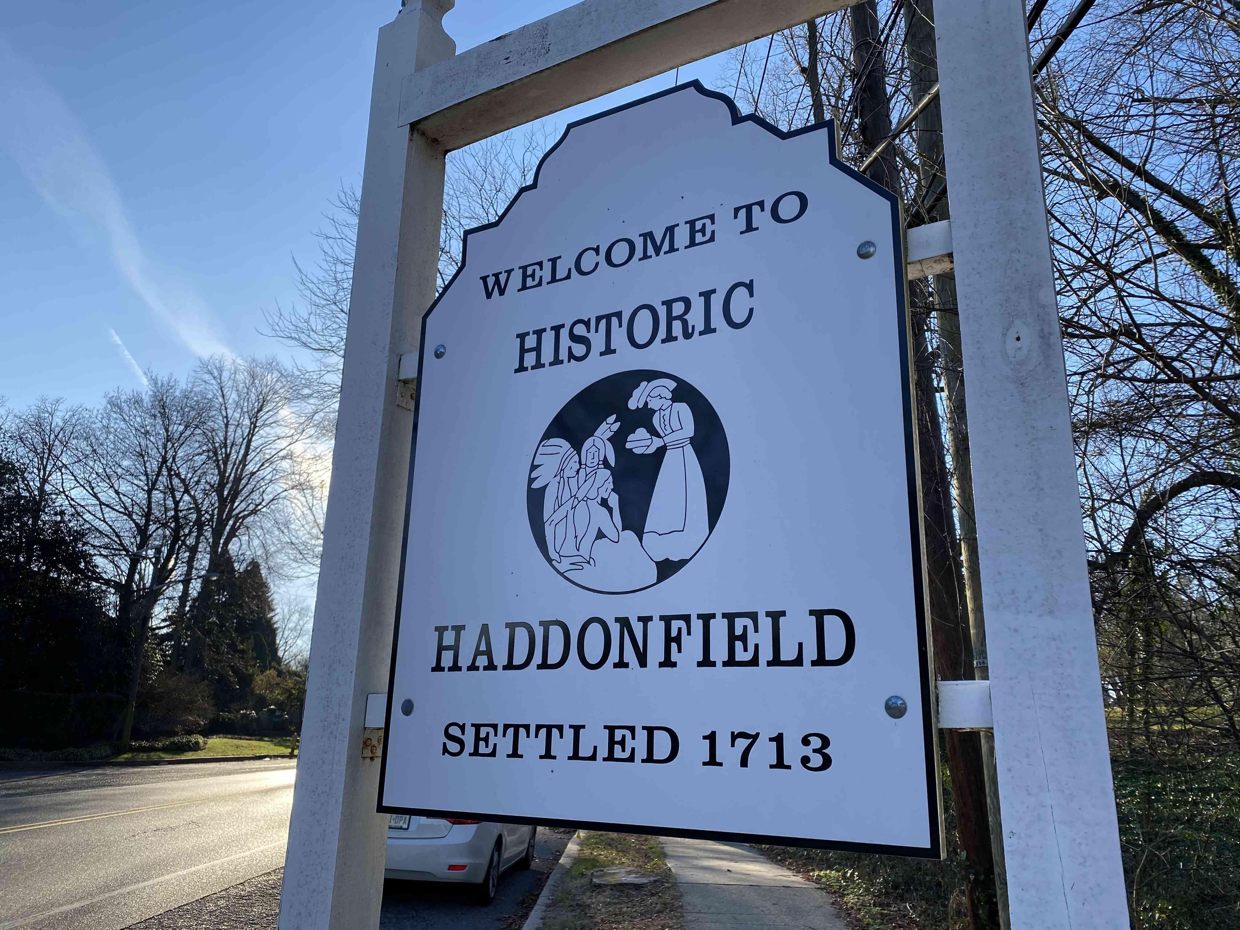 Haddonfield sign