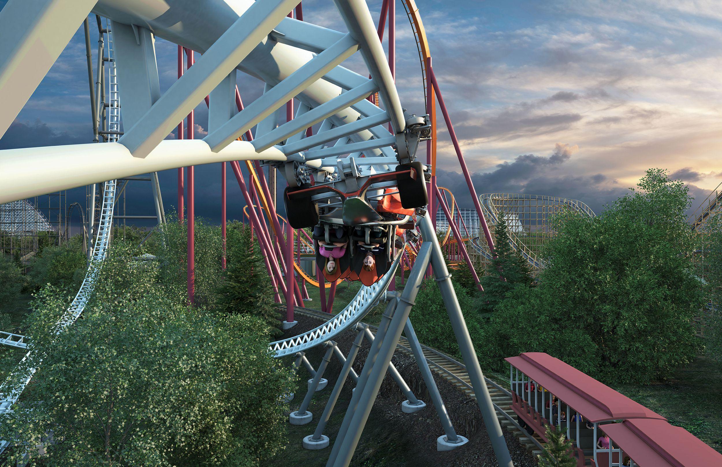 Maxx Force coaster Six Flags Great America