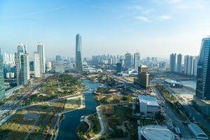 Bird's eye view of Incheon, South Korea