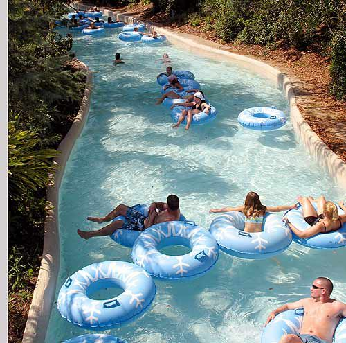 Lazy rivers like Cross Country Creek can be quitge relaxing.