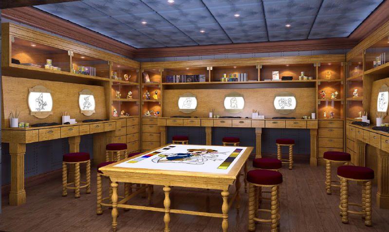 Disney Dream - Animator's Studio, in the Oceaneer Lab - Photo courtesy of Disney Cruise