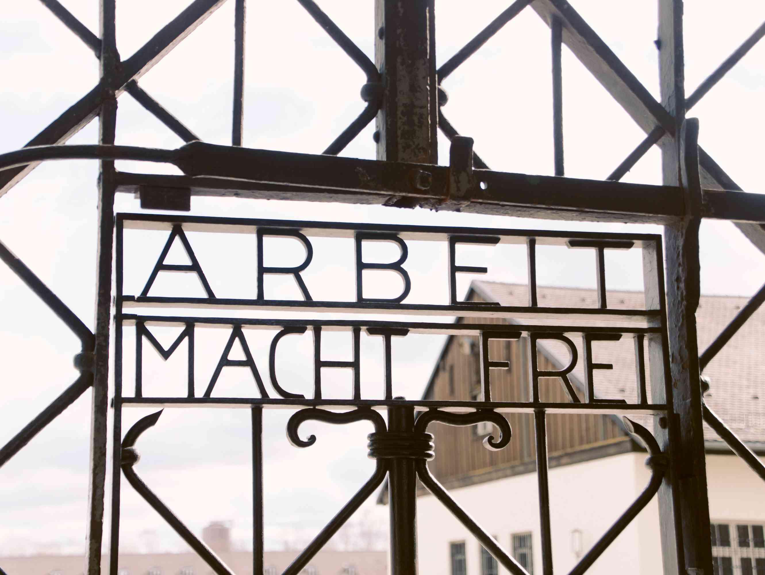 Sign at Dachau
