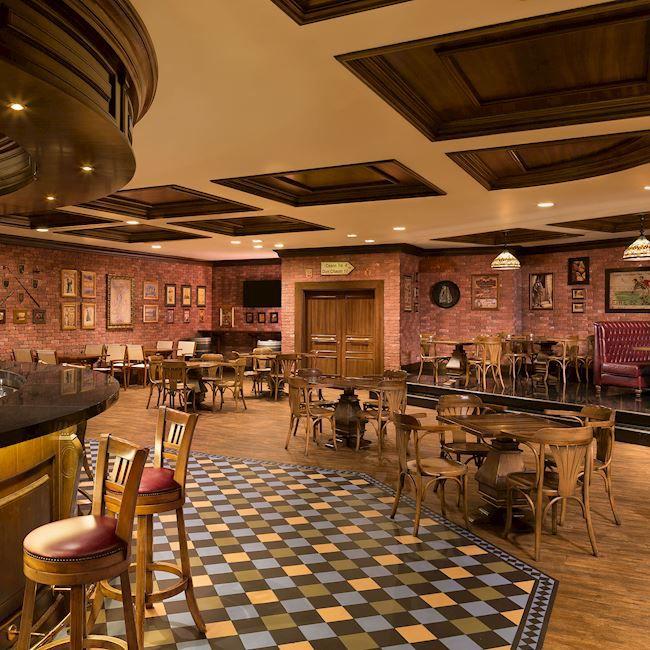 Interior of Irish harp pub in Doha
