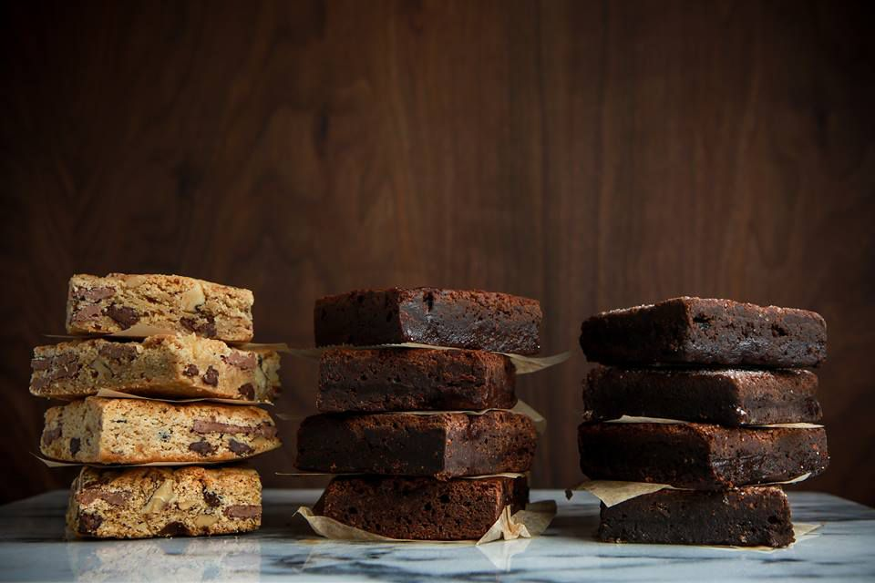 Assortment of brownies at Baked NYC