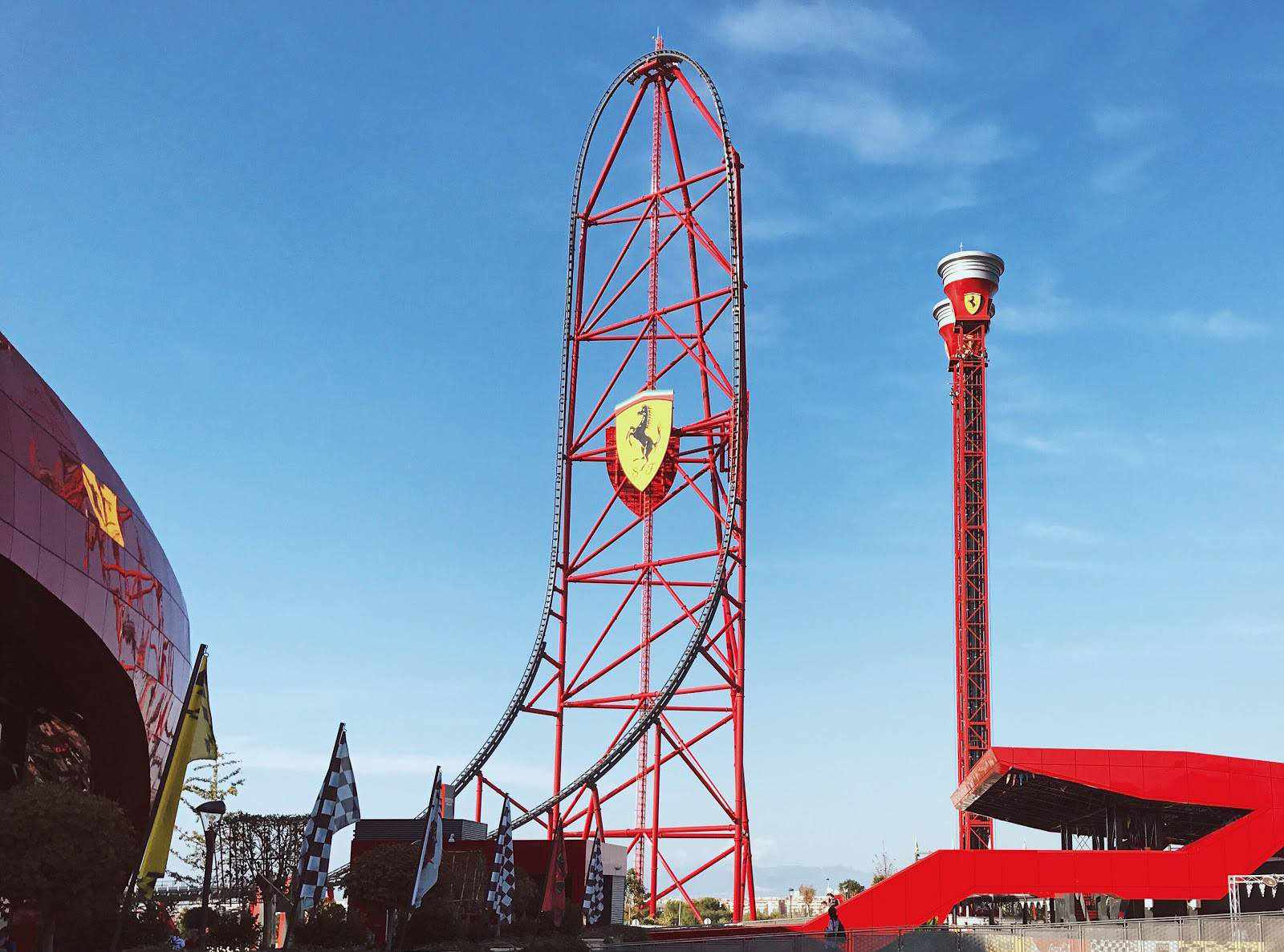 Red Force coaster at Ferrarri Land