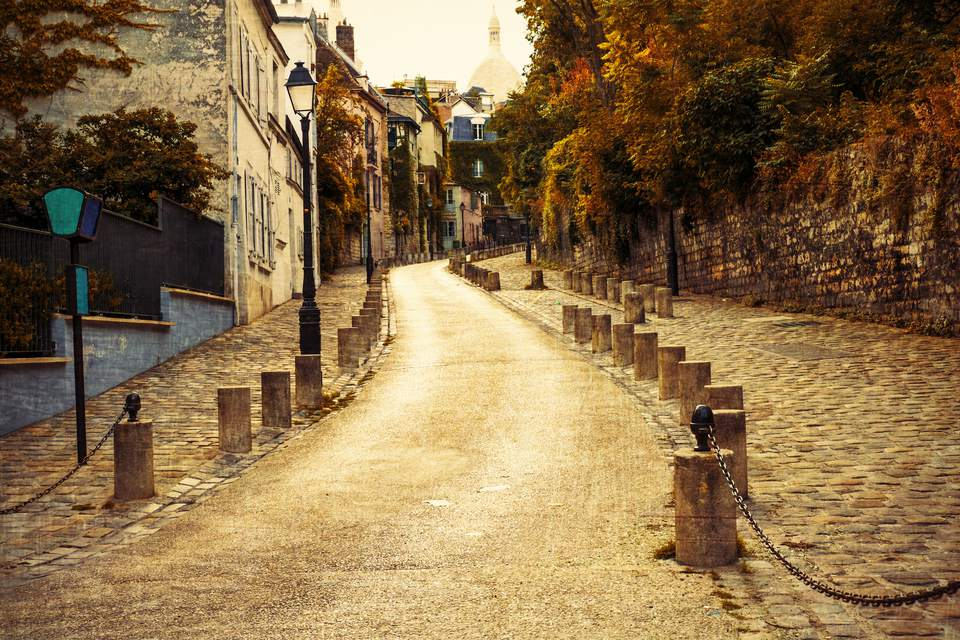 Montmartre is sublime in the autumn