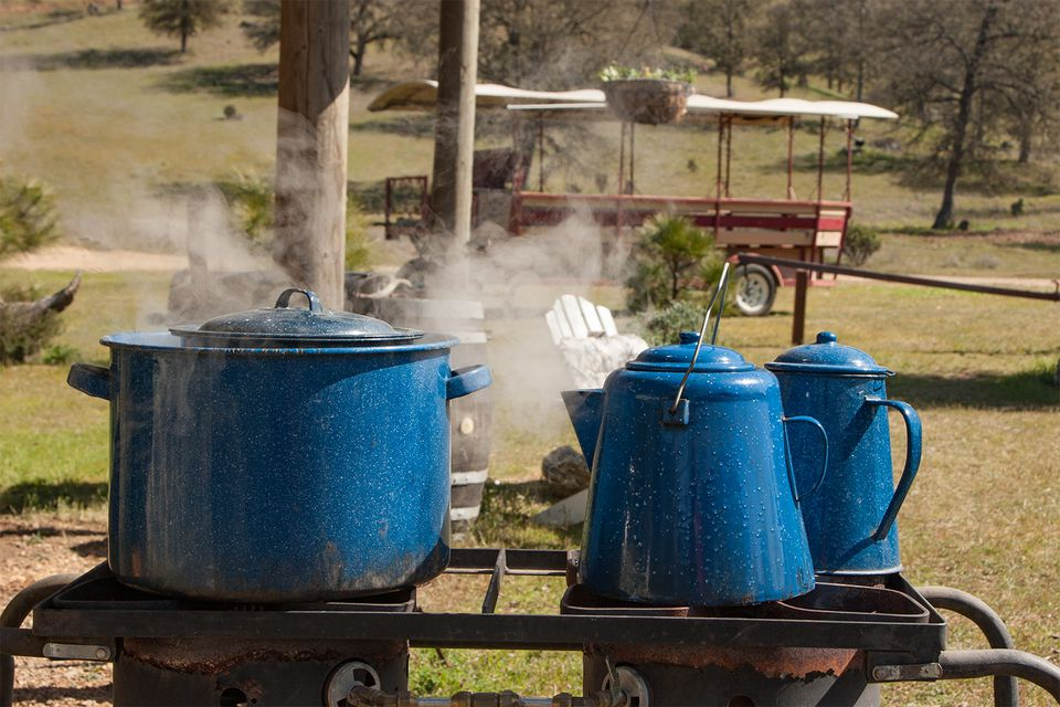 Lunch Cooking at Eleven Roses Ranch