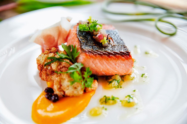 salmon brunch