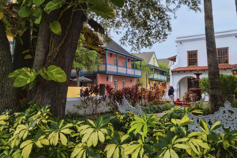 St George Street in St Augustine, Florida