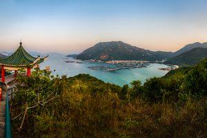 Panoramic view of Sok Kwu Wan, Lamma Island, Hong Kong