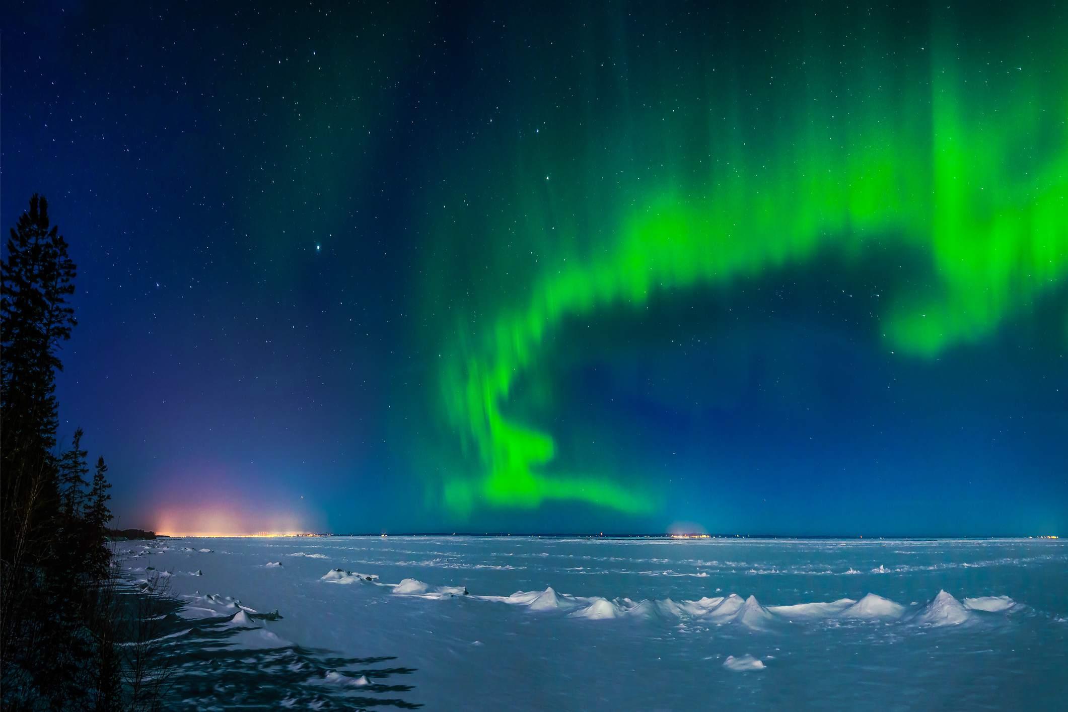 Aurora over Minnesota North Shore