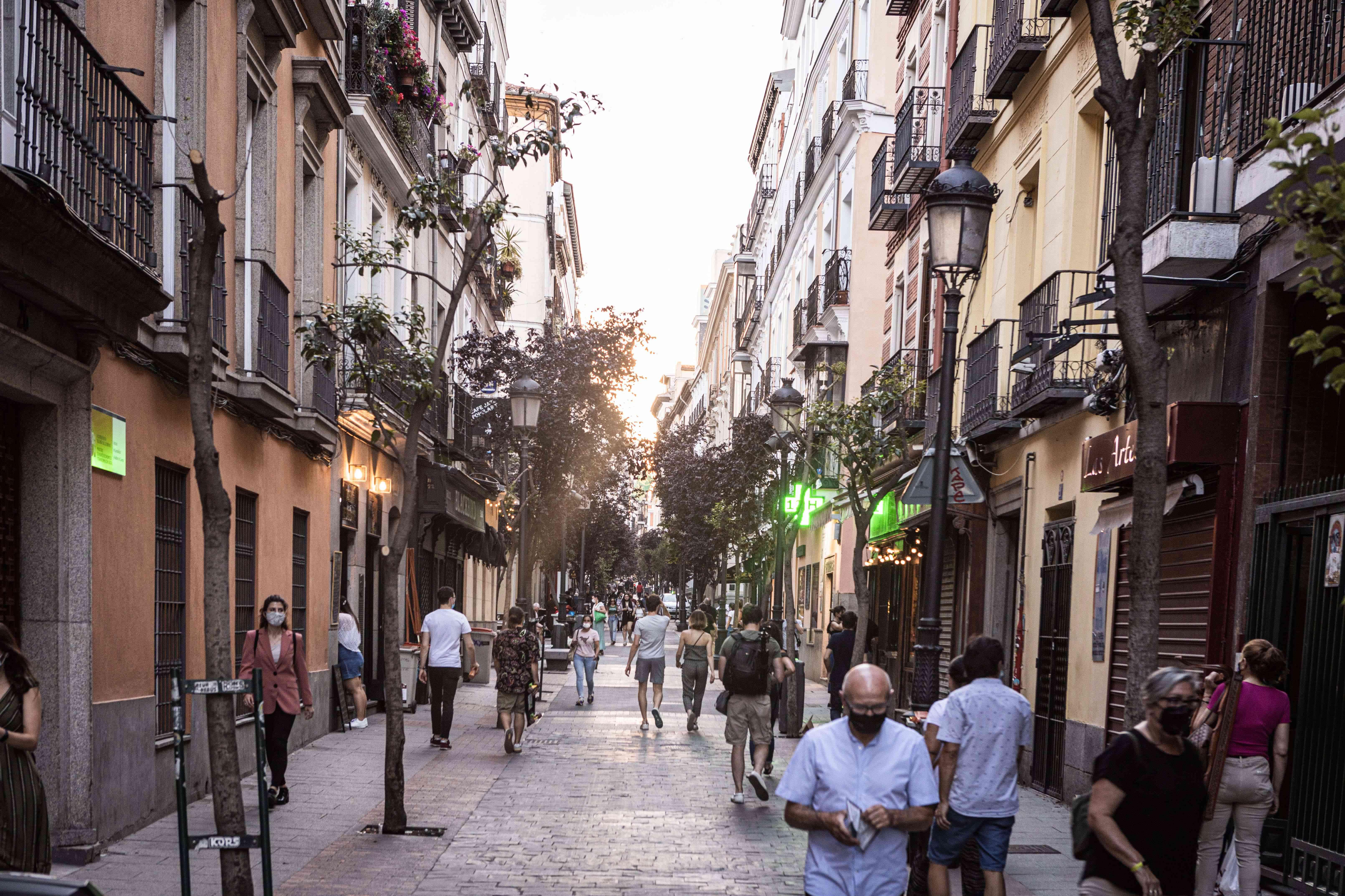 Calle Huertas, Madrid, Spain