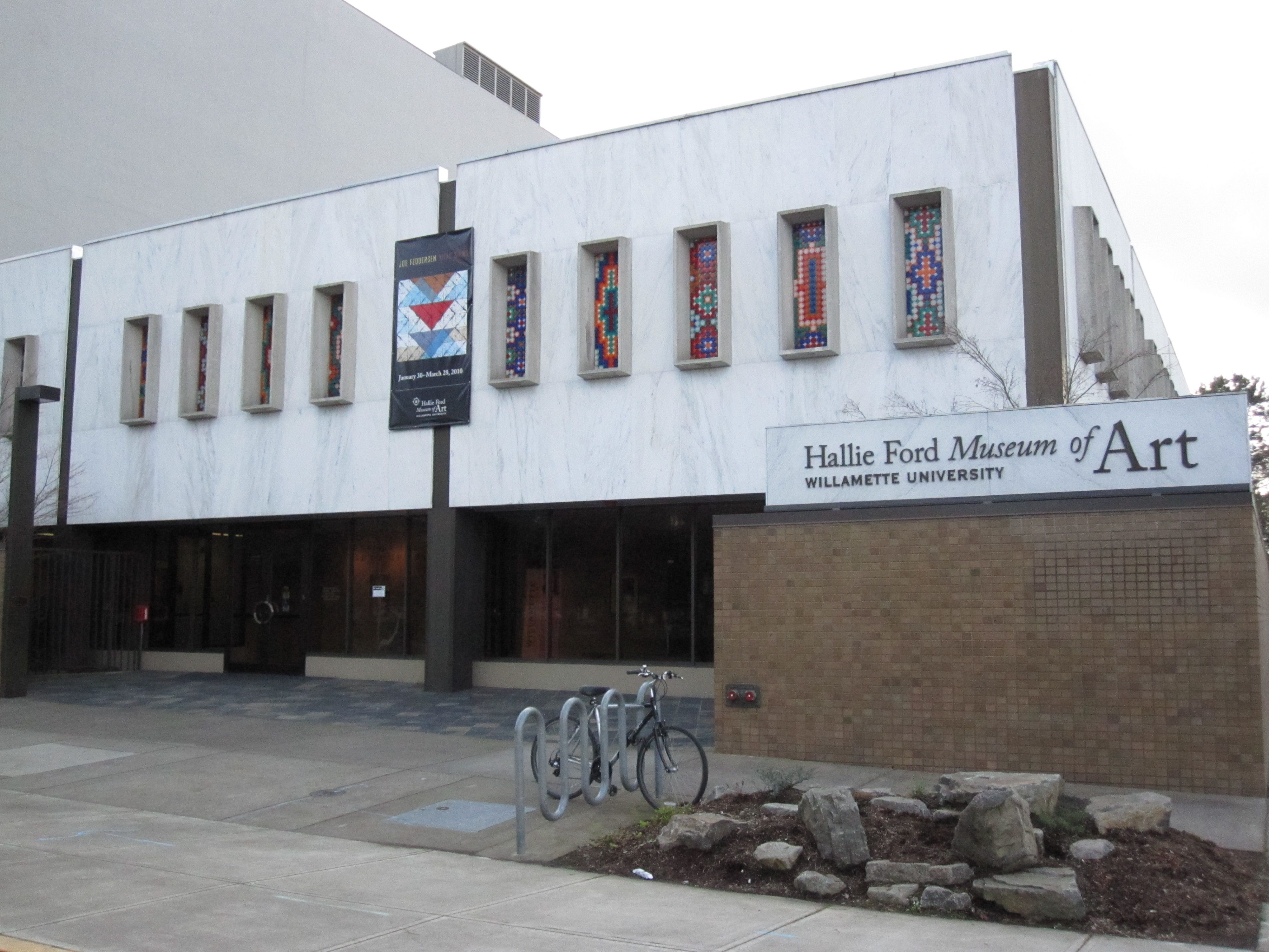 Exterior main entrance of the Hallie Ford Museum of Art