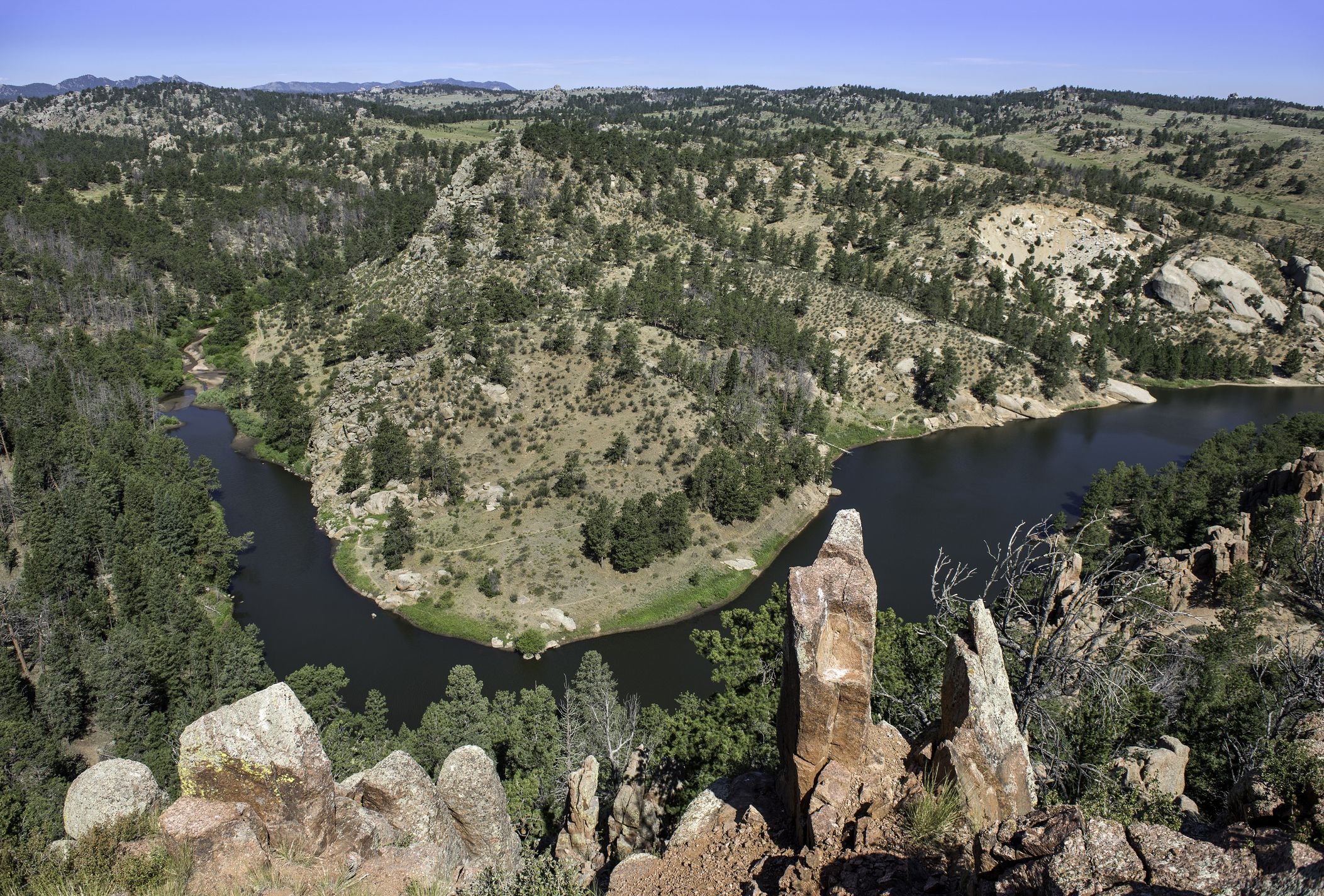 Aerial of Curt Gowdy State Park, Wyoming