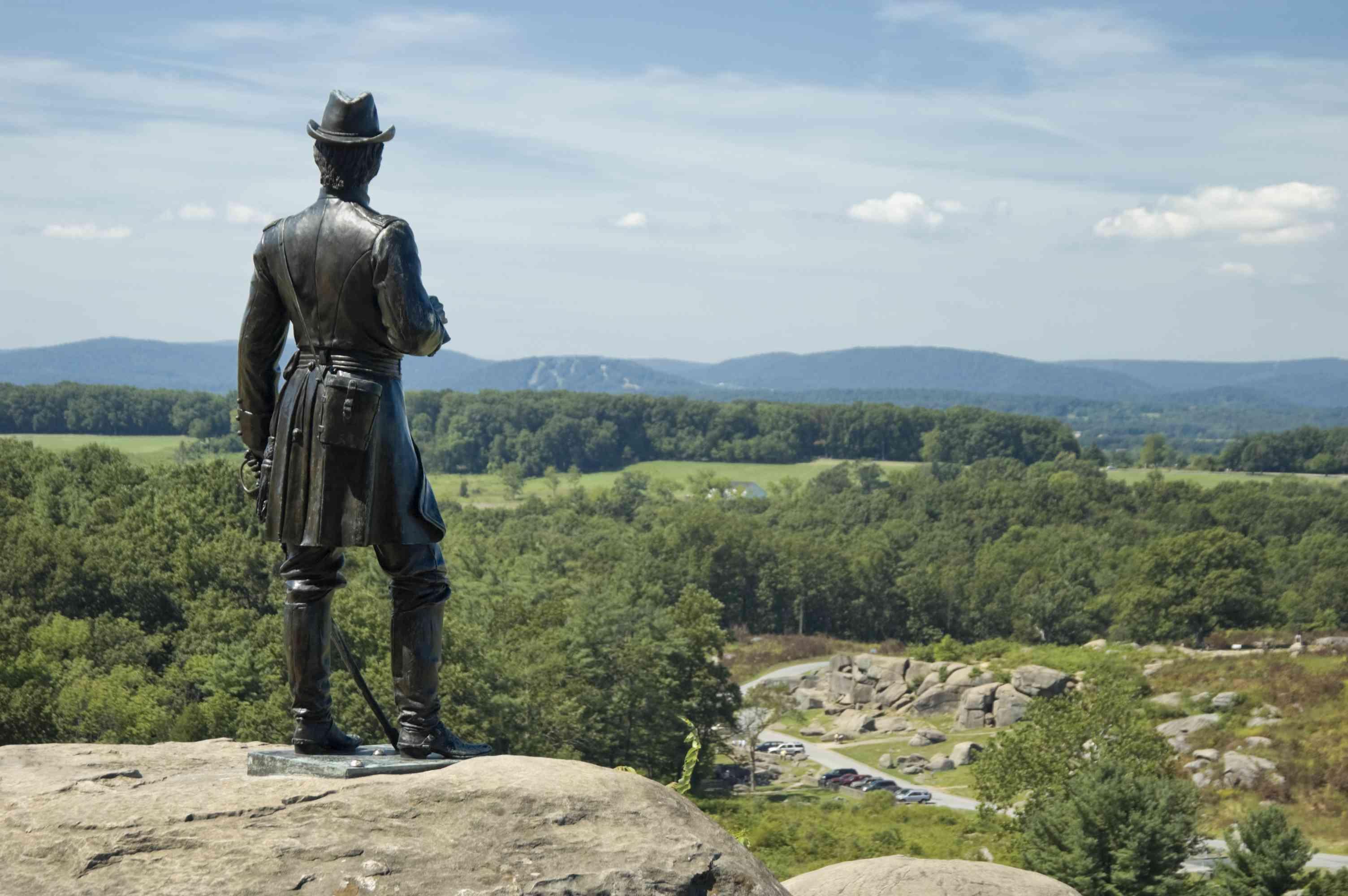 Devils Den From Little Round Top, Gettysburg Battlefield Overlook