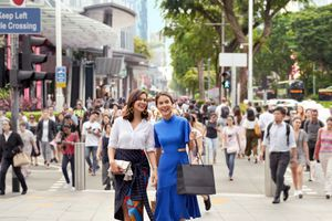 Ladies shopping on Orchard Road, Singapore
