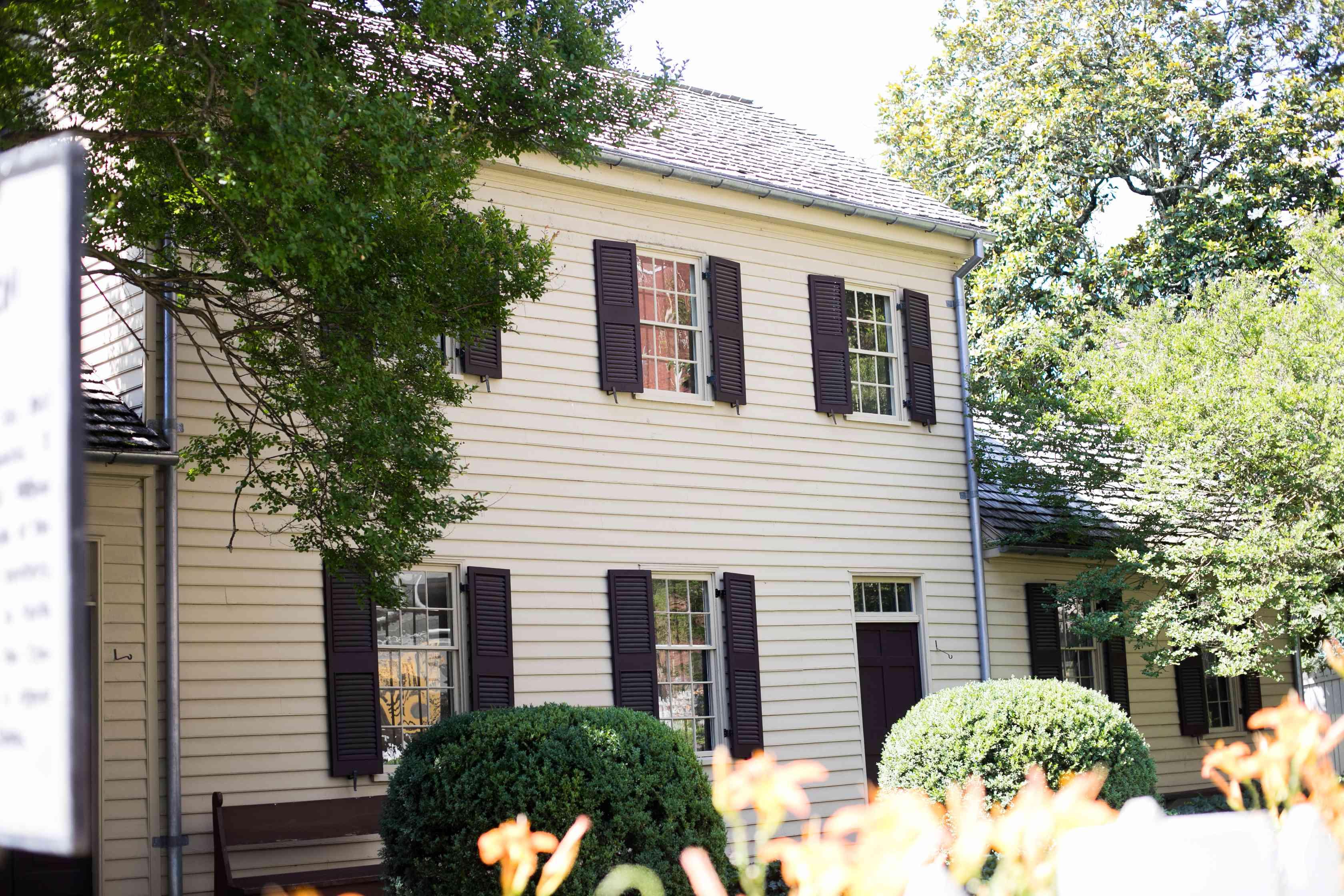 Exterior of Blount Mansion
