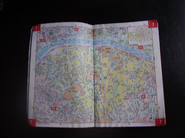 "My own ""well-loved"" copy of the classic Paris street map."