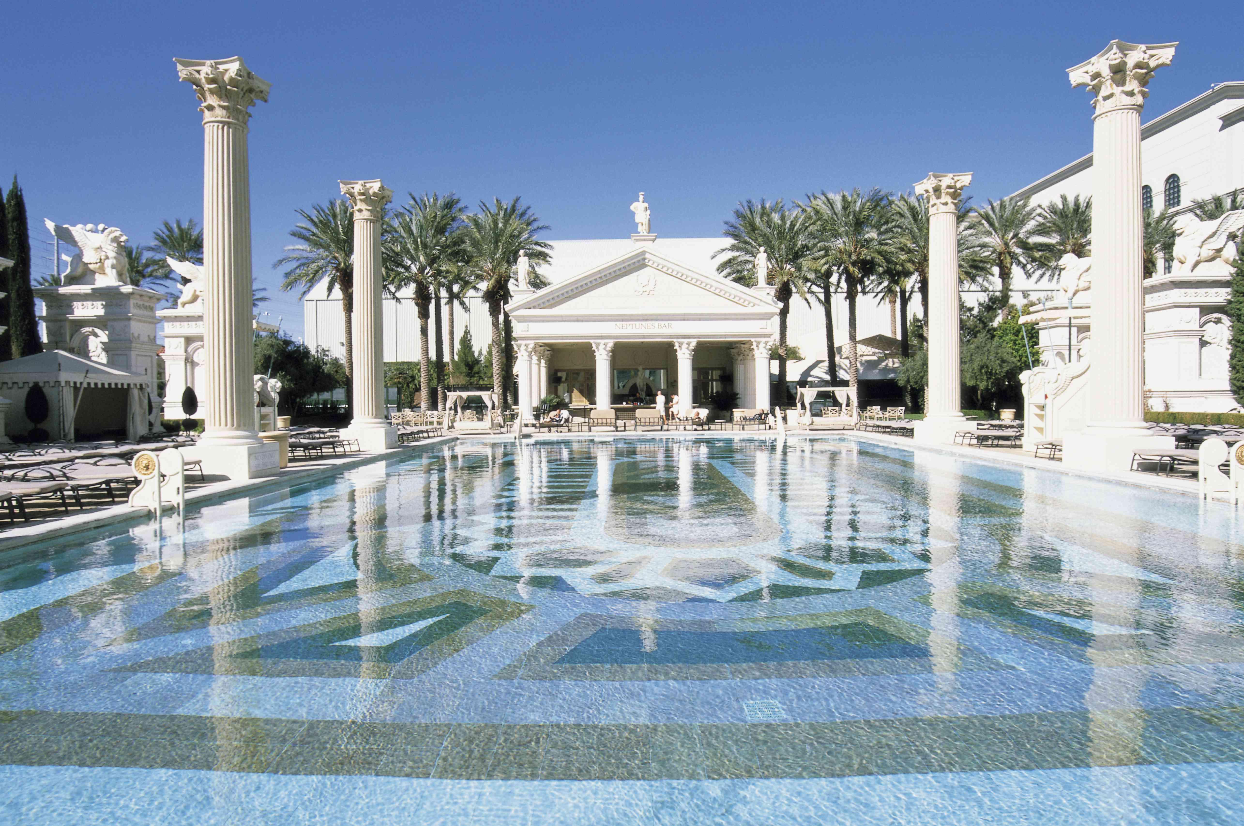 Piscina, Caesar's Palace Hotel & Casino, Las Vegas, Nevada, EE. UU.
