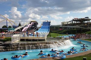Splash Works is a 20 acre water park and part of Canada's Wonderland, which is the largest theme park in Canada.