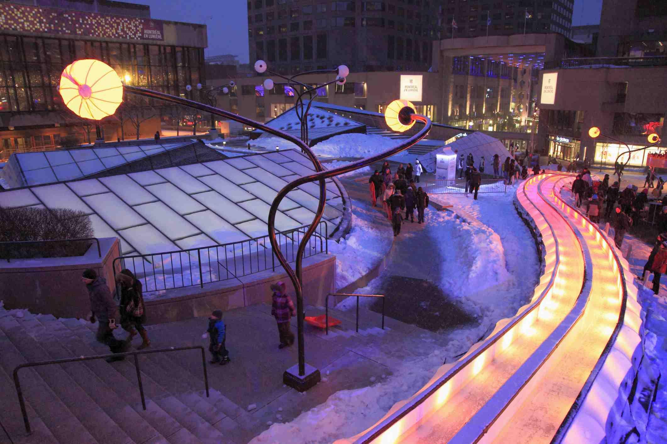Canada, Quebec, Montreal, Montréal en lumière, winter festival, Place des Arts,