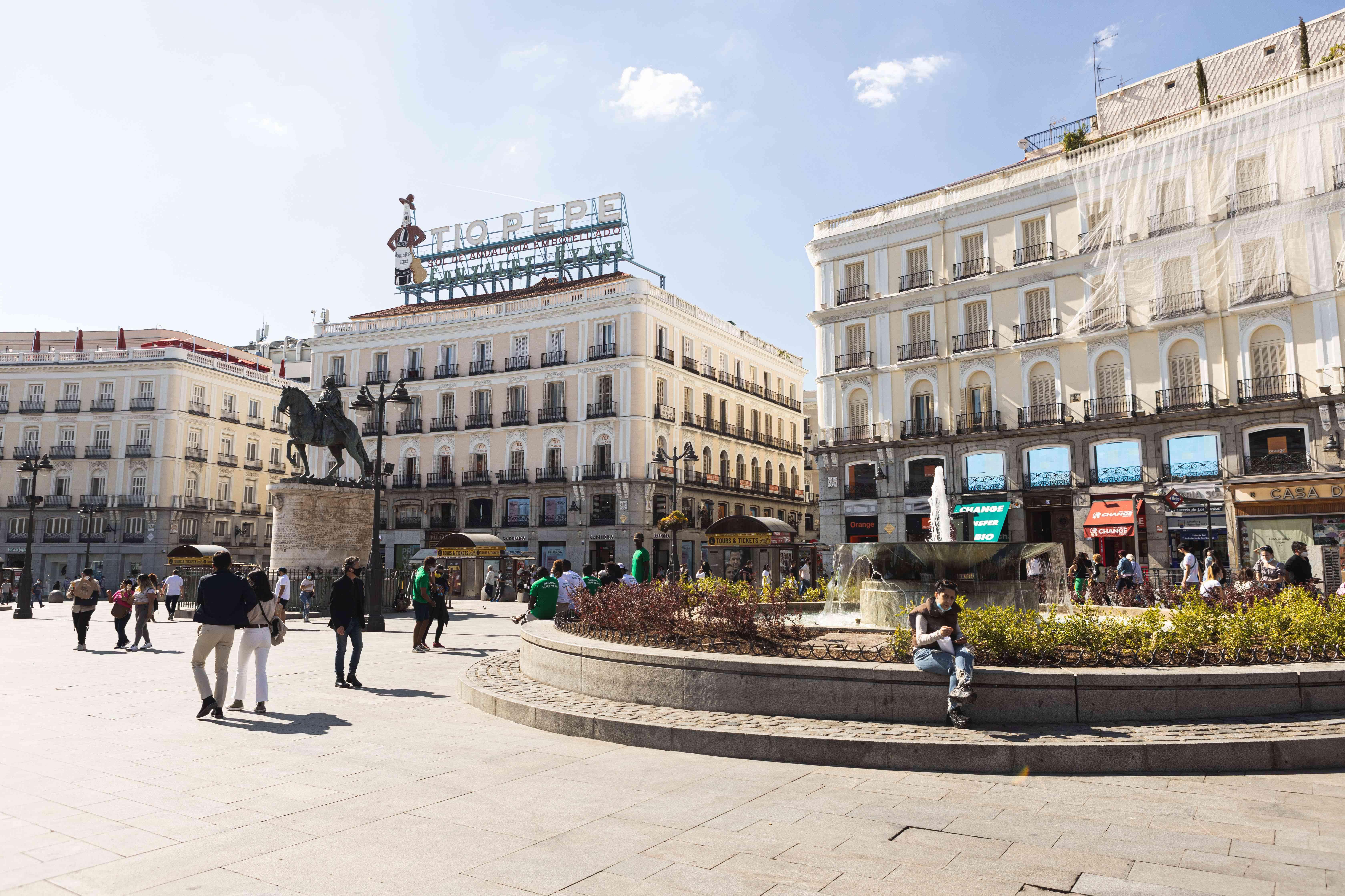 Puerta del Sol square in Madrid, Spain