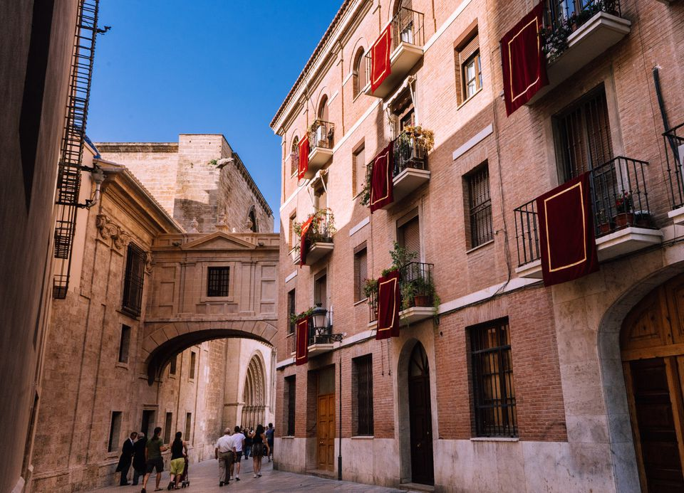 The old town in Valencia