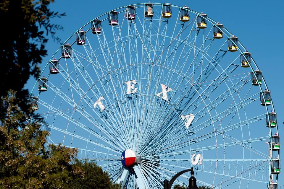 The Ferris wheel at the Texas State Fair (the tallest Ferris wheel in North America)