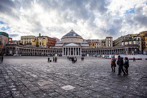 Piazza del Plebiscito in Naples, Italy
