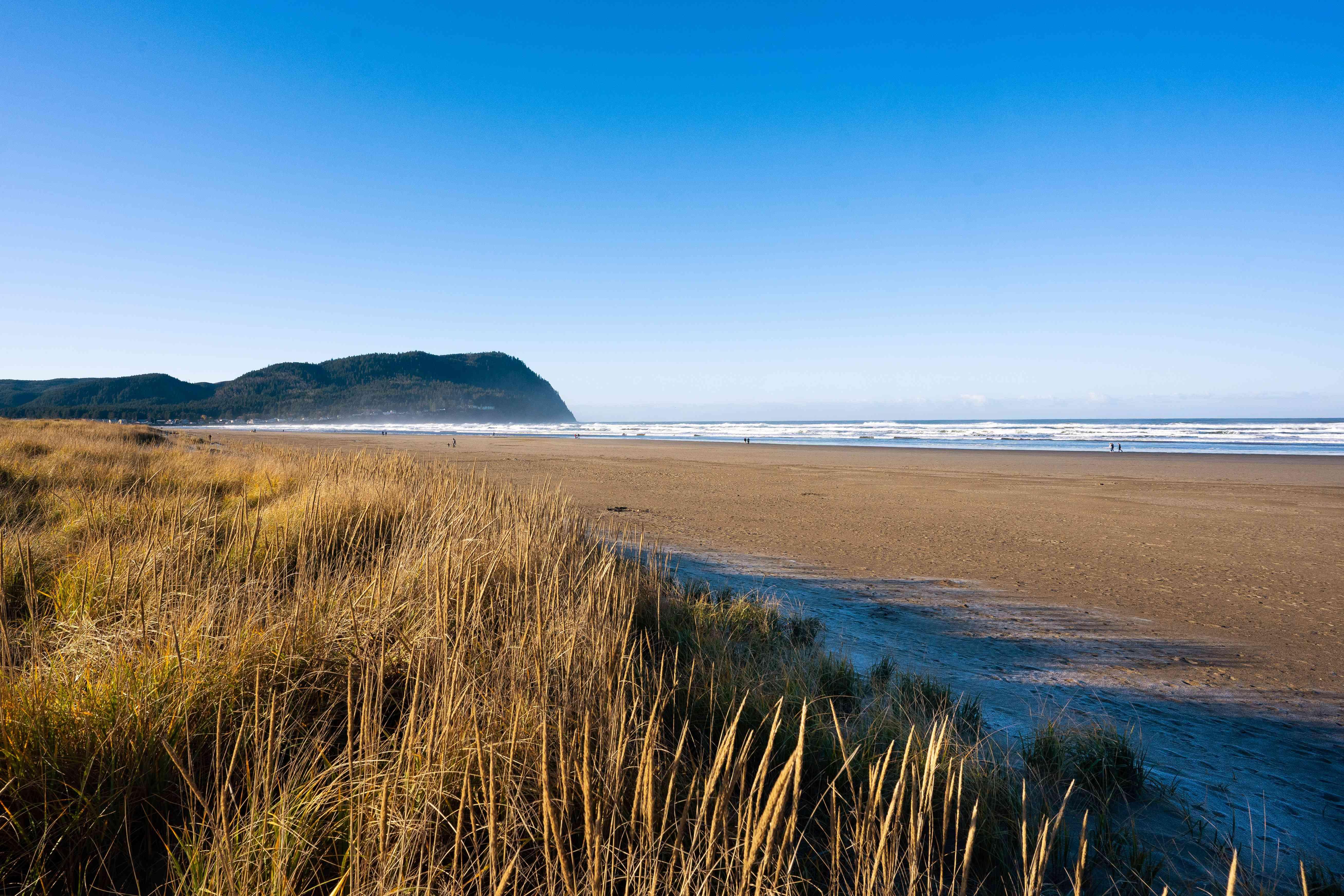 A beach in Seaside, Oregon