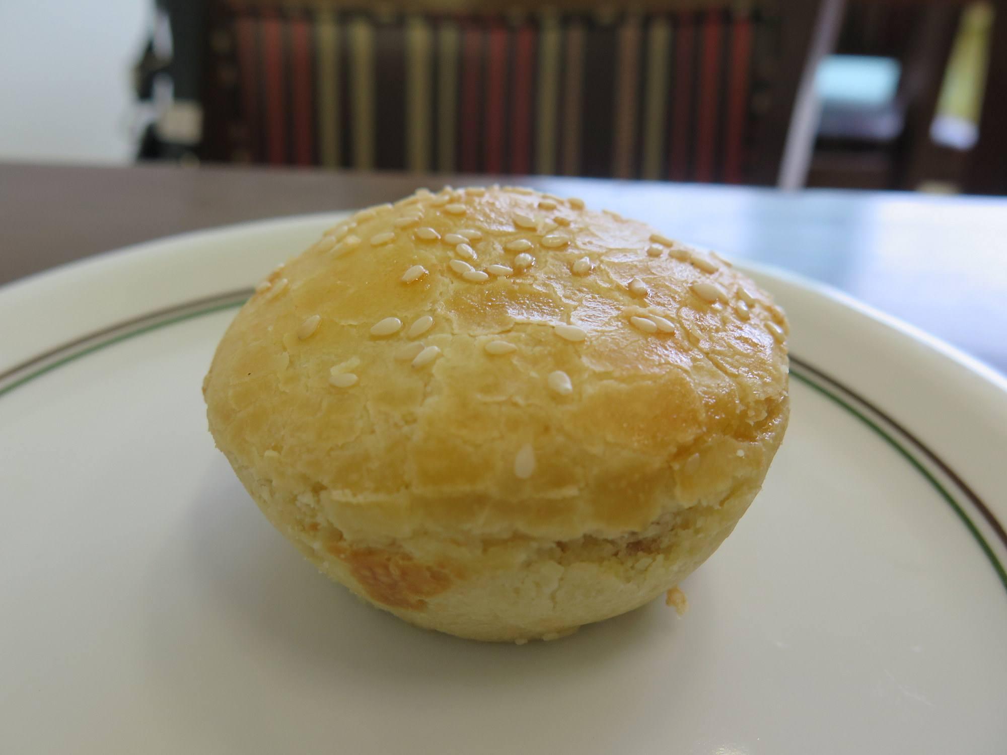 Close up of empadinha snack on plate