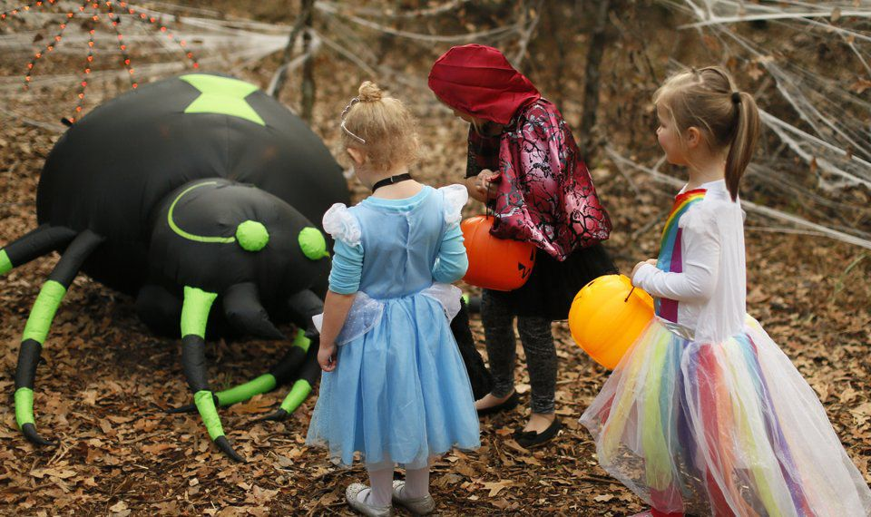 Costumed children at the Storybook Forest