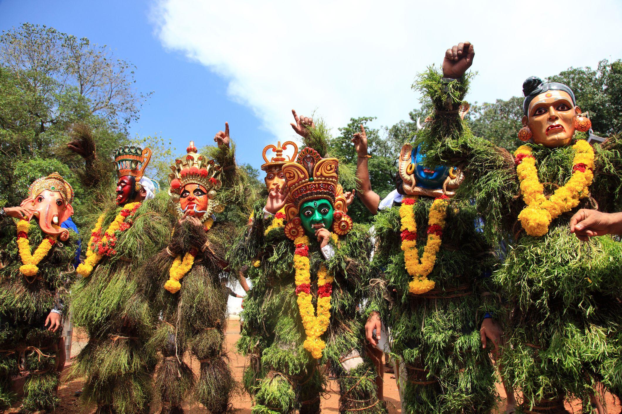 Kummatti Tanz von Kerala