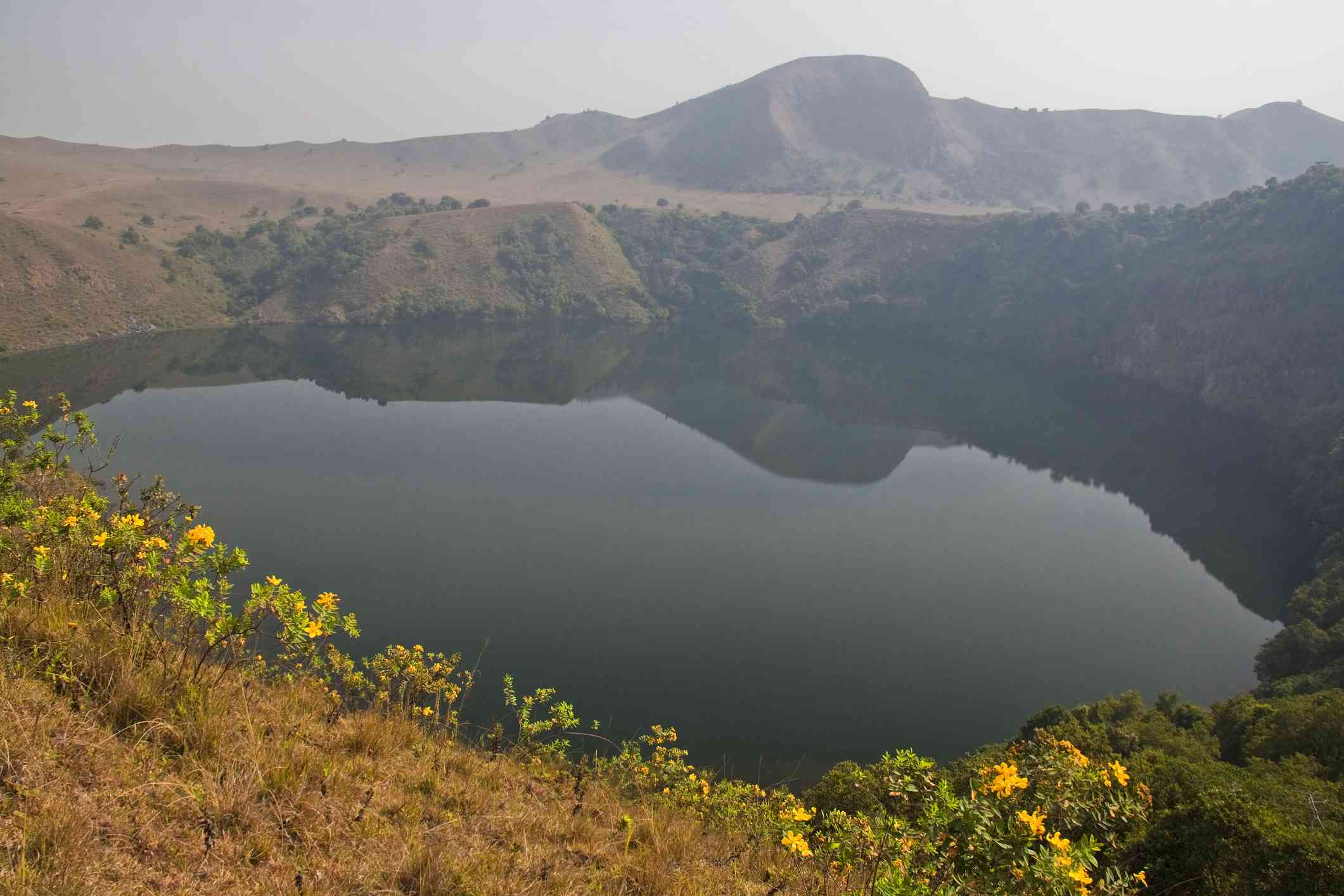 The 'Man' Lake - Manengouba Volcanic Lakes near Bangem, Cameroon