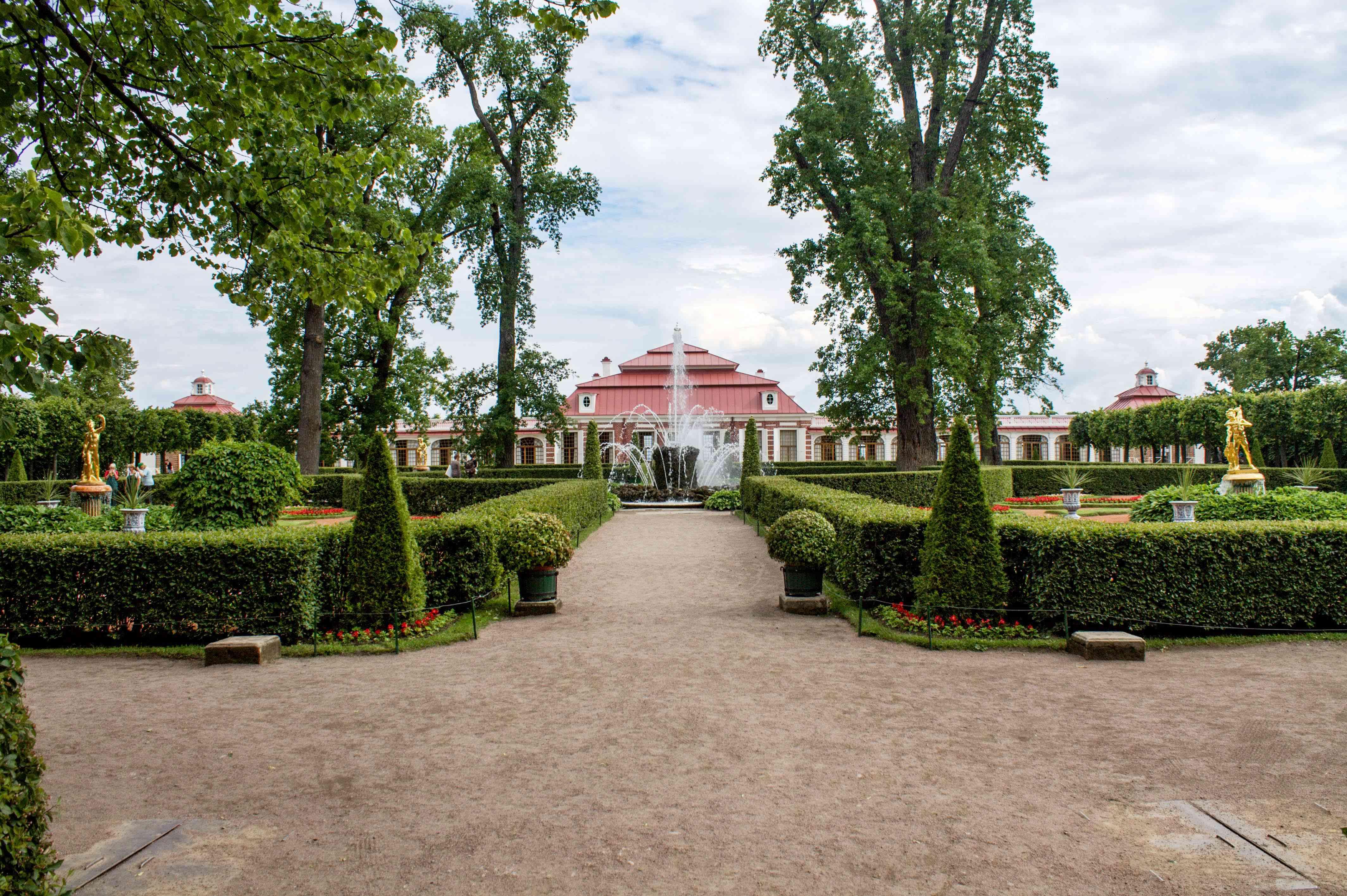 The gardens at Peterhof