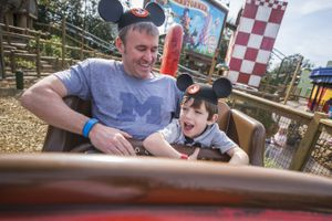 The Barnstormer coaster at Disney World