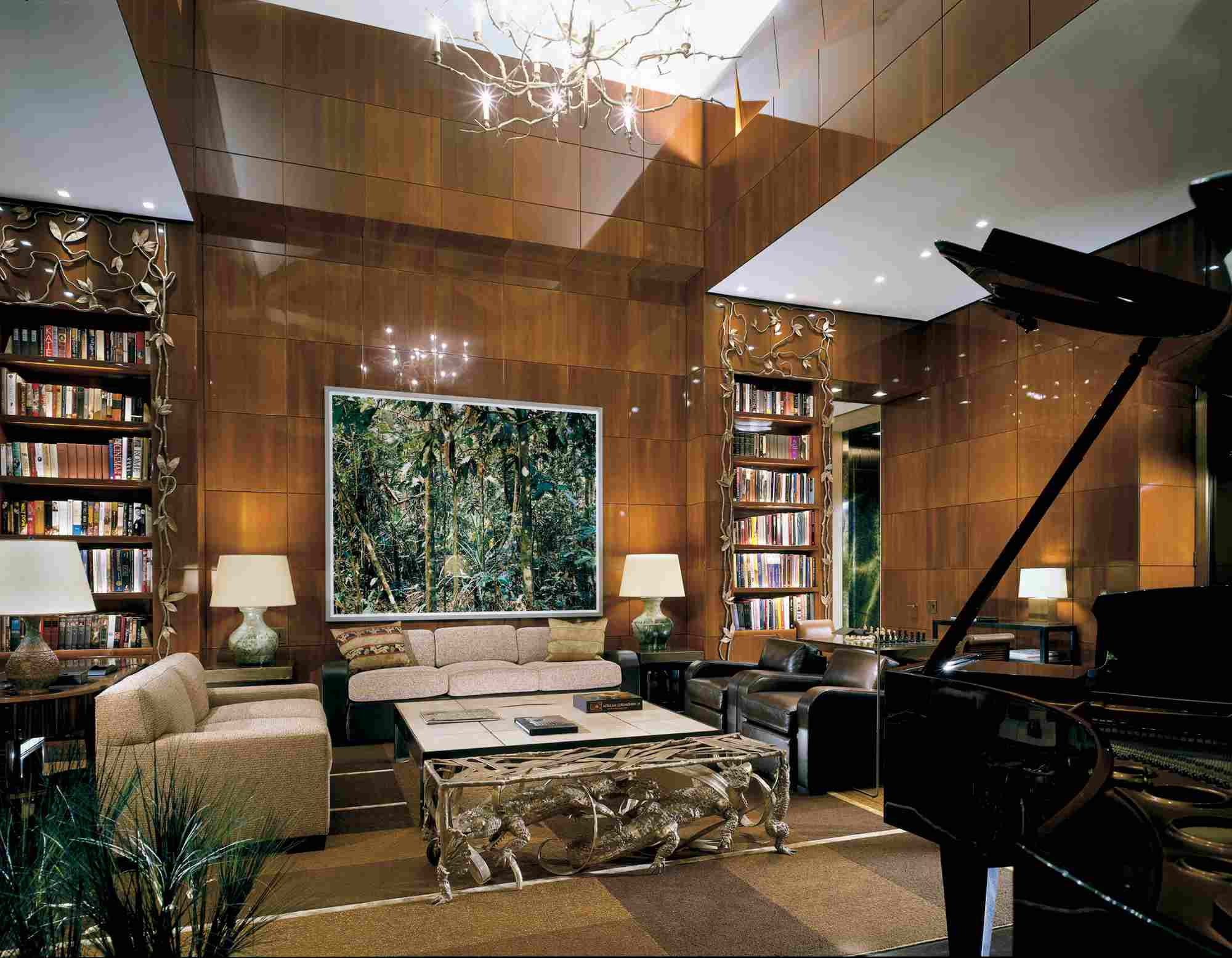 Library in the Ty Warner Penthouse Suite Four Seasons Hotel New York
