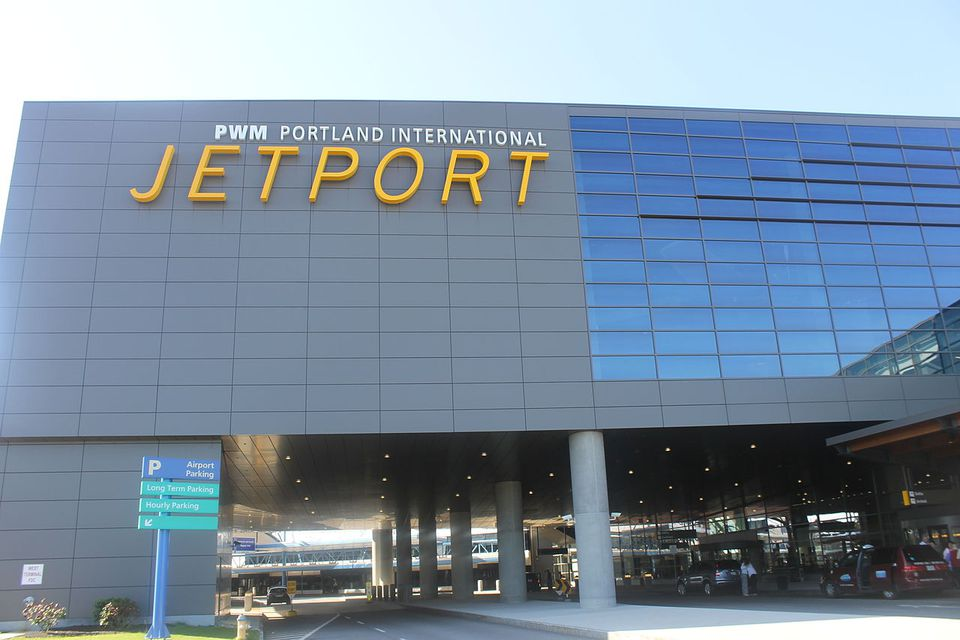Exterior of Portland International Jetport