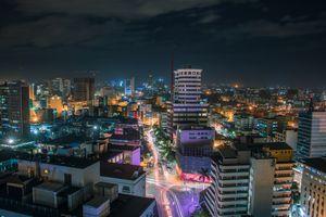 Long exposure photo of Nairobi at night
